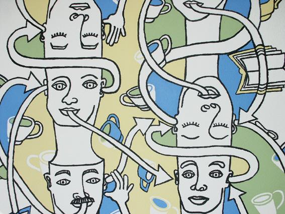 Detail muurschildering de Sloep 2005